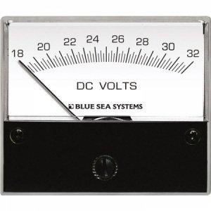 227540<br>BlueSea 電圧計 アナログ DC 18-32V (W66.7XH60.3)<br>(8240)