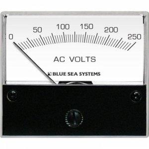 227542<br>BlueSea 電圧計 アナログ AC 0-250 V (W66.7XH60.3)<br>(9354)