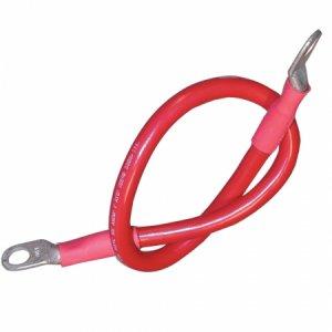 227927<br>Ancor バッテリーケーブル端子付セット#4AWG (21㎟) 46cm 赤色(1本)<br>(189131)