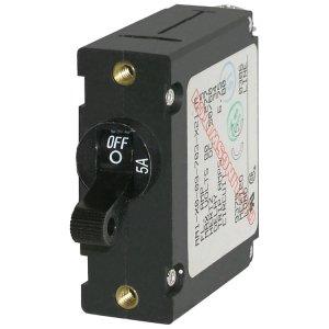 228181<br>ノーヒューズブレーカースイッチ 5Amp Std Black<br>(7200)