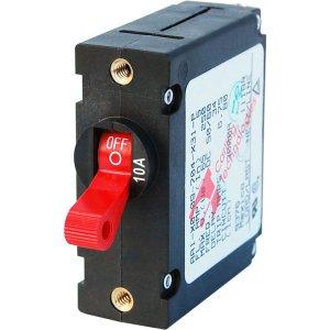 228193<br>ノーヒューズブレーカースイッチ 10Amp Std Red<br>(7205)