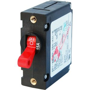 228194<br>ノーヒューズブレーカースイッチ 15Amp Std Red<br>(7209)