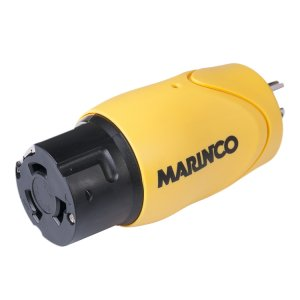 228322<br>Marinco 15A 125V雄ストレートブレード to 50A 125/250V雌アダプター<br>(S15-504)