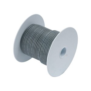 230309<br>Ancor Tin電線#18(0.8mm2)灰色/30M巻<br>(100410)