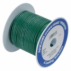 230384 Ancor TIN電線 #10(5㎟)緑色/30M巻 (108310)