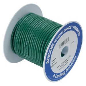 230404<br>Ancor TIN電線 #8 (8㎟)緑色/30M巻<br>(111310)
