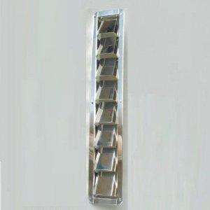 317053<br>ステンレス 8 ルーバーベント NARROW 54 x 405mm<br>(KH46080)