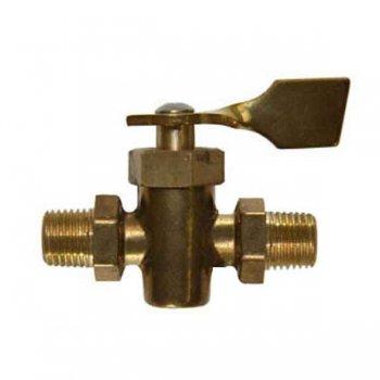 318299 ストップ バルブ1/4F NPT 2 Male (Brass ) (142074)