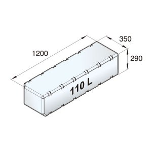 601094<br>Vetus 高密度ポリエチレン多目的タンク 110 L<br>(ATANK110)