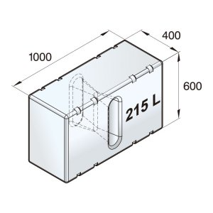 601097<br>Vetus 高密度ポリエチレン多目的タンク 215 L<br>(ATANK215)