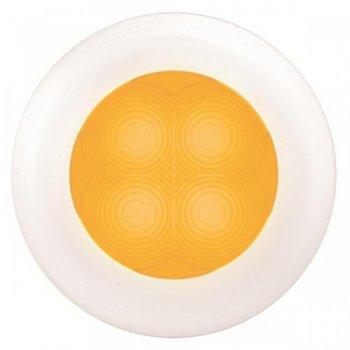 M-740665<br>SL ラウンド12V Amber, 白リム(LED)