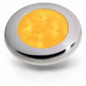 M-740635<br>SL ラウンド12V Amber, サテンSSリム(LED)