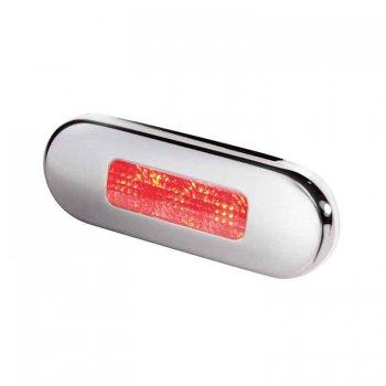 741043<br>HellaステップLEDランプ SUS ベゼル 12/24V RED0.5W<br>(2XT980869501)