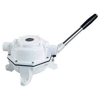 319672<br>Whale Mk5 Toilet  ハンドポンプ B/H White<br>(BP0527)