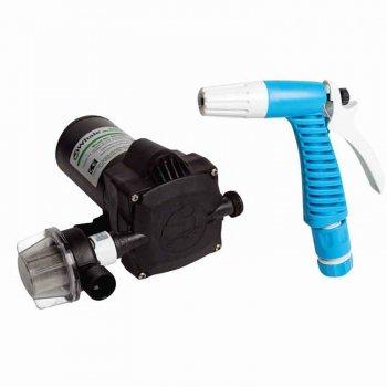 319732<br>Whale Washdownポンプ 18L/M 12V w/Trigger Nozzle <br>(WD1815)