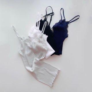 Oscalito/Cotton100% V Neck Rib Camisole...2&3size