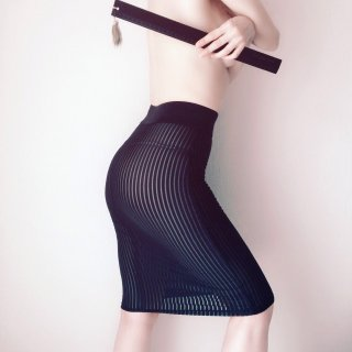 MAISON CLOSE/ Stripe Skirt…