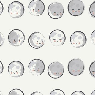 CAP-ST-1105 Happy Moons - Capsules - Stargazer コットン100%