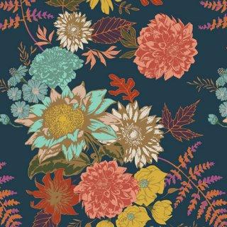 ATV-97200 Floral Glow Twilit - Autumn Vibes コットン100%