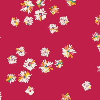 <img class='new_mark_img1' src='https://img.shop-pro.jp/img/new/icons3.gif' style='border:none;display:inline;margin:0px;padding:0px;width:auto;' />SKS-84301 Hazy Daisies Scarlet -Sun Kissed コットン100%