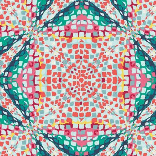 <img class='new_mark_img1' src='https://img.shop-pro.jp/img/new/icons3.gif' style='border:none;display:inline;margin:0px;padding:0px;width:auto;' />SKS-84302 Kaleidoscope Poolside -Sun Kissed コットン100%