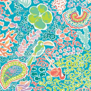 <img class='new_mark_img1' src='//img.shop-pro.jp/img/new/icons3.gif' style='border:none;display:inline;margin:0px;padding:0px;width:auto;' />WPA-64500 Beach Treasures Luminescent - West Palm コットン100%