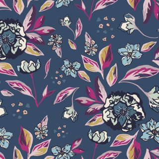 <img class='new_mark_img1' src='https://img.shop-pro.jp/img/new/icons3.gif' style='border:none;display:inline;margin:0px;padding:0px;width:auto;' />MSL-23960 Enchanted Flora Ablue - Mystical Land コットン100%
