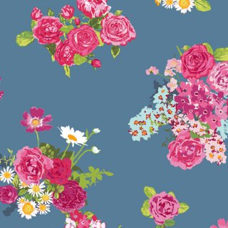 <img class='new_mark_img1' src='//img.shop-pro.jp/img/new/icons3.gif' style='border:none;display:inline;margin:0px;padding:0px;width:auto;' />FSH-17400 Cascading Blossoms - Floralish コットン100%
