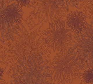 FE-503 Russet Orange -Floral Elements コットン100%
