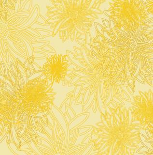 FE-520 Custard  -Floral Elements 在庫あり コットン100%