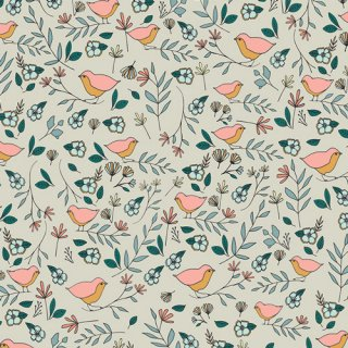 LVS-38809  Lovebirds Celeste   -Love Story 在庫あり  コットン100%