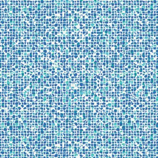WPA-54507  Plash Mosaic Azure -West Palm【カット販売】 コットン100%