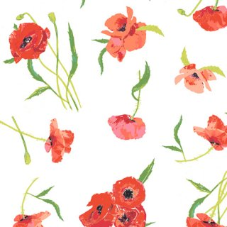 FSH-27401 Poppy Reflections- Floralish【カット販売】 コットン100%