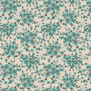 SPT-85225 Calico Days Aqua- Spirited 【カット販売】 コットン100%