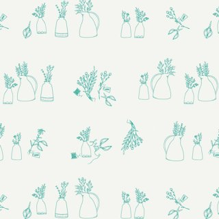 FWR-34881 Gardening Joy -Flowerette  コットン100%
