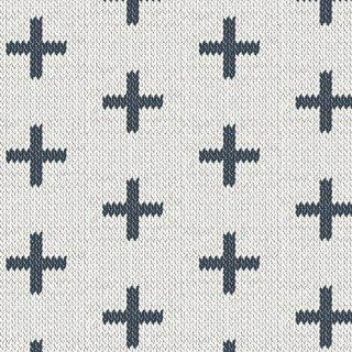 HKD-22657 Chain Stitch Crosses -Hooked 【カット販売】 コットン100%