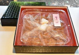 高級南高梅うす塩500g入 紀州塗箱 網代模様仕上げ