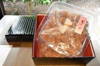 高級南高梅うす塩・はちみつ梅計1kg入 紀州塗箱 網代模様仕上げ