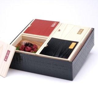 高級南高梅食べ比べ4種計1kg入 紀州塗箱 網代模様仕上げ