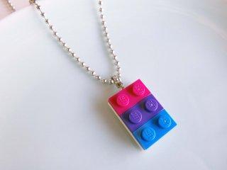 レゴブロックネックレス(バイセクシュアルカラー)