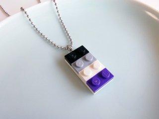 レゴブロックネックレス(Aセクシュアルカラー/大)