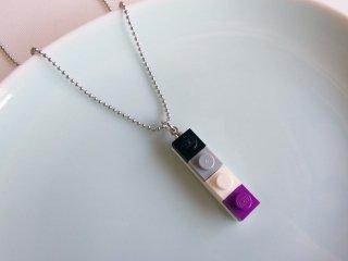 レゴブロックネックレス(Aセクシュアルカラー/小)