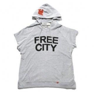 FREECITY (フリーシティー)スラブメランジパイル スリーブレス バハパーカ