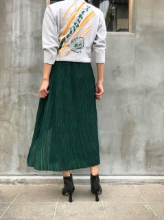 <img class='new_mark_img1' src='https://img.shop-pro.jp/img/new/icons6.gif' style='border:none;display:inline;margin:0px;padding:0px;width:auto;' />JANE SMITH / RANDOM PLEATS ASYMETRY SKIRT・GREEN