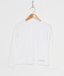 <img class='new_mark_img1' src='https://img.shop-pro.jp/img/new/icons6.gif' style='border:none;display:inline;margin:0px;padding:0px;width:auto;' />HOLIDAY / SUPER FINE DRY PUFF TOPS ・WHITE