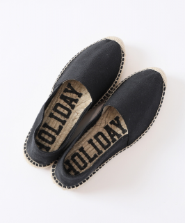 <img class='new_mark_img1' src='https://img.shop-pro.jp/img/new/icons6.gif' style='border:none;display:inline;margin:0px;padding:0px;width:auto;' />HOLIDAY / DOUBLE SOLE ESPADRILLE・BLACK