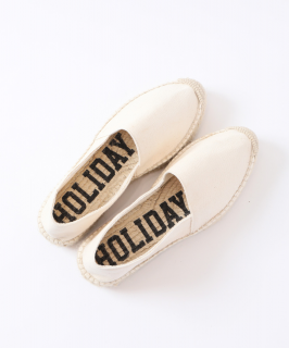 <img class='new_mark_img1' src='https://img.shop-pro.jp/img/new/icons6.gif' style='border:none;display:inline;margin:0px;padding:0px;width:auto;' />HOLIDAY / DOUBLE SOLE ESPADRILLE・OFF WHITE