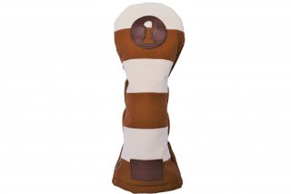 ドライバー用ヘッドカバーKB 帆布キャンバスシリーズ ボーダー
