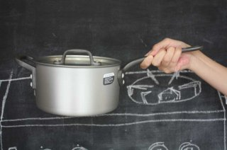Saucepan ソースパン 18cm silver×black