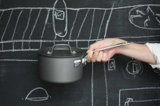 Saucepan ソースパン  15cm black×silver